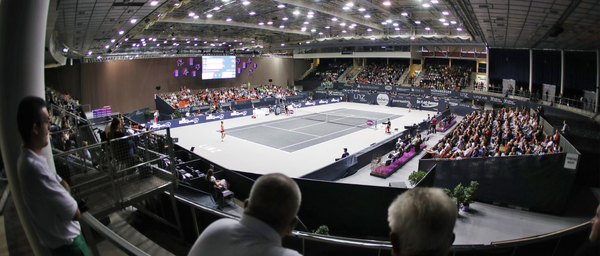 LINZ,AUSTRIA,14.OCT.17 - TENNIS - WTA Tour, Upper Austria Ladies Linz. Image shows Centre Court. Photo: GEPA pictures/ Matthias Hauer