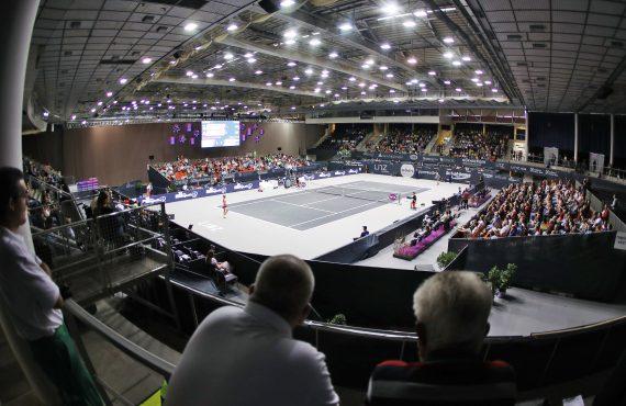 LINZ,AUSTRIA,14.OCT.17 - TENNIS - WTA Tour, Upper Austria Ladies Linz. Image shows Centre Court. Photo: GEPA pictures/ Matthias Hauer